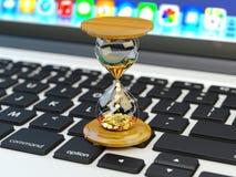Tempo é dinheiro, faça o negócio da gestão do dinheiro e de tempo e o conceito da tecnologia Imagem de Stock