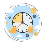 Tempo é dinheiro, gestão de tempo, conceito do planeamento empresarial Fotos de Stock Royalty Free
