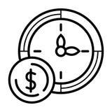 Tempo ? dinheiro ilustração stock