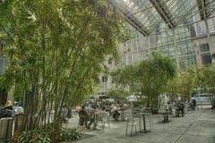 Tempo do almoço Café de New York foto de stock