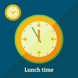 Tempo do almoço Imagens de Stock Royalty Free