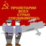 Tempo do aviador da revolução de outubro em Rússia ilustração royalty free