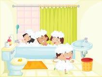 Tempo do banho ilustração royalty free