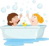 Tempo do banho ilustração do vetor