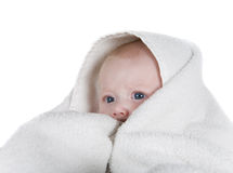 Tempo do banho do bebê Fotos de Stock