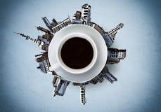 Tempo do café Fotografia de Stock Royalty Free