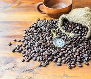 Tempo do café Fotos de Stock Royalty Free