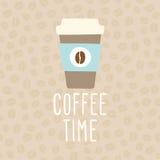 Tempo do café Copo a ir Fotografia de Stock Royalty Free