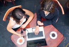 Tempo do café do negócio Imagens de Stock Royalty Free