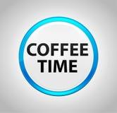 Tempo do café em volta da tecla azul ilustração royalty free