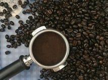 Tempo do café do feijão de café imagem de stock royalty free