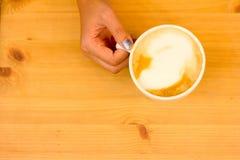 Tempo do café no café imagens de stock