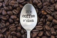 Tempo do café Fotografia de Stock