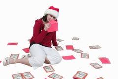 Tempo do cartão de Natal outra vez fotos de stock royalty free