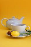 Tempo do chá na mola Imagens de Stock