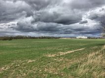 Tempo do clima de tempestade na primavera Imagem de Stock Royalty Free