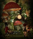 Tempo do cogumelo, 3d CG Imagens de Stock Royalty Free