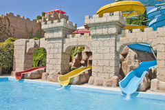 Tempo do divertimento em Aqua Park, Izmir Foto de Stock Royalty Free