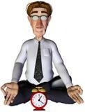 tempo do homem de negócios 3d para a ioga Imagem de Stock Royalty Free
