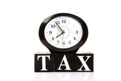 Tempo do imposto Imagens de Stock Royalty Free