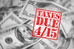 Tempo do imposto Imagens de Stock