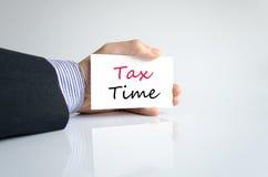 Tempo do imposto da escrita da mão imagem de stock royalty free