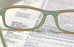 Tempo do imposto - reembolso foto de stock