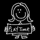 Tempo do jogo ilustração royalty free