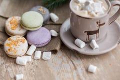 Tempo do Natal, bolinhos de amêndoa Imagem de Stock