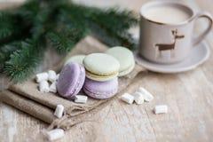 Tempo do Natal, bolinhos de amêndoa Fotos de Stock Royalty Free