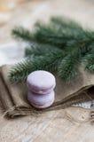 Tempo do Natal, bolinhos de amêndoa Imagem de Stock Royalty Free