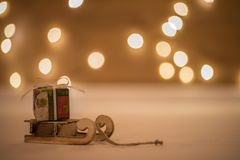 Tempo do Natal com bokeh e transporte Imagem de Stock
