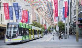 Tempo do Natal em Bourke Street Mall, Melbourne, Austrália foto de stock royalty free