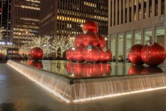Tempo do Natal em New York foto de stock royalty free