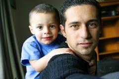 Tempo do pai & do filho Imagem de Stock Royalty Free