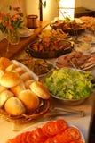 Tempo do partido, almoço servido fotografia de stock royalty free