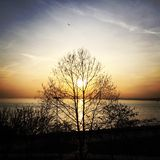 Tempo do por do sol Imagem de Stock Royalty Free