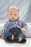 Tempo do retrato do bebê Fotografia de Stock