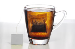 Tempo do Teabag foto de stock royalty free