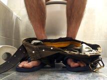 Tempo do toalete fotografia de stock