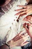 Tempo do vestido de casamento Fotos de Stock Royalty Free