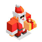 Tempo do Xmas com Santa Fotos de Stock Royalty Free
