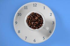 Tempo dos feijões de café Fotografia de Stock