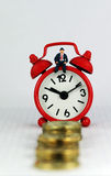 Tempo dos gerentes de banco Imagem de Stock Royalty Free