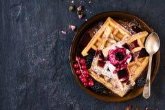 Tempo dos waffles Fotografia de Stock Royalty Free