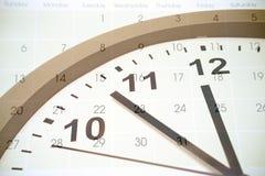Tempo e calendário Fotografia de Stock Royalty Free