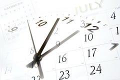 Tempo e calendários Fotografia de Stock Royalty Free