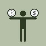 Tempo e carico dei soldi illustrazione di stock