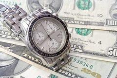 Tempo e commercio Fotografia Stock Libera da Diritti