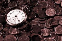 Tempo e conceito do dinheiro Fotos de Stock Royalty Free